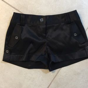 Satin black express shorts